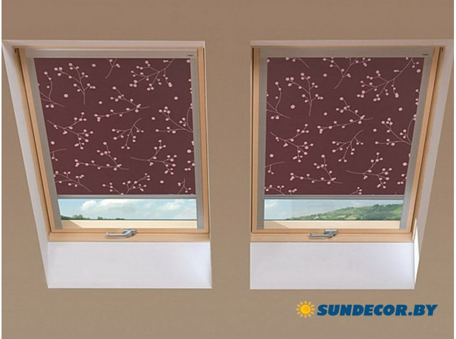 Рольшторы decolux на манасардные окна Fakro