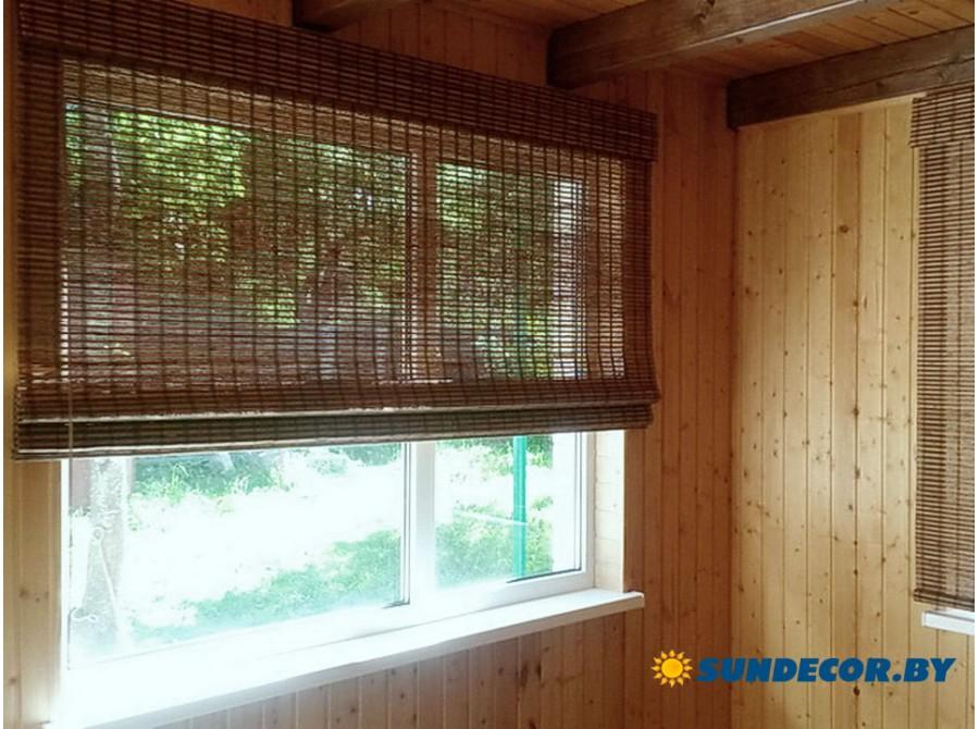 Римские шторы бамбуковые в частный дом