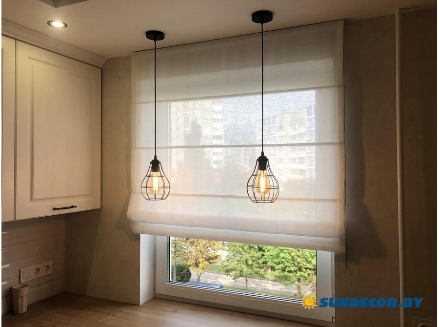Римские шторы белые на кухню